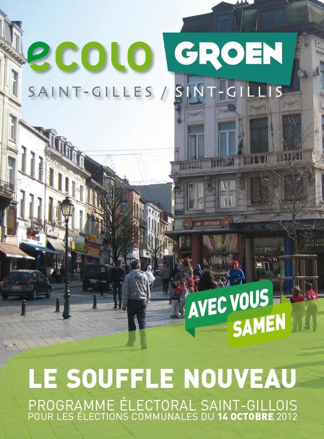 Cover programme Ecolo-Groen Saint-Gilles 2012