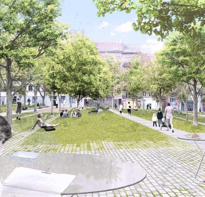 Marie Jansonplein herinrichting in nieuw stadspark