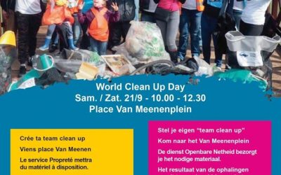 21 septembre : les Saint-Gillois.es  se retroussent les manches lors du World Clean Up Day