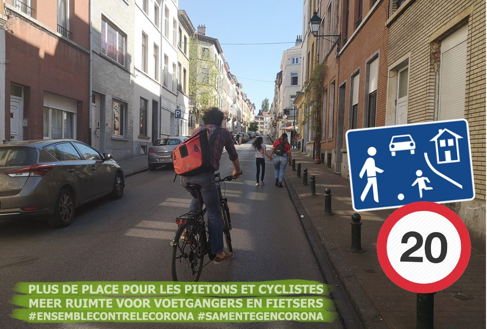 """(Français) 12 """"slow streets"""" et 8 rues cyclables : Saint-Gilles se prépare au déconfinement"""