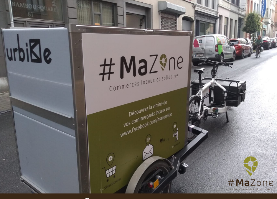 #MaZone un service de livraison durable et équitable pour les commerces saint-gillois